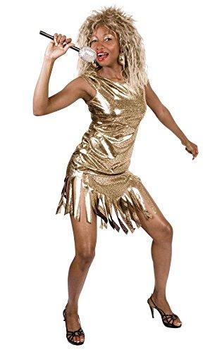 80er Jahre Sängerin Kostüm SET Rock Queen (Tina Turner 80er Jahre Kostüm)