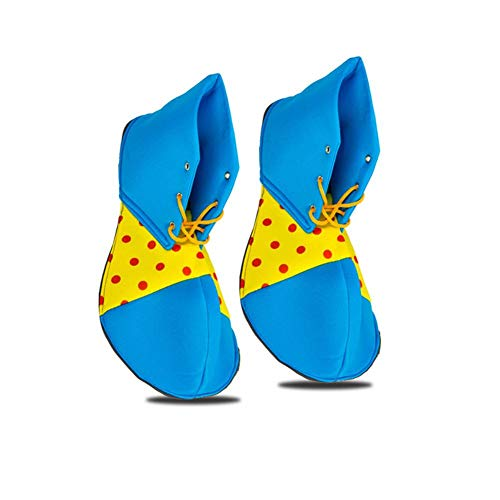 wonderday Zapatos de Payasos para Adultos, Zapatos de Payasos de Halloween Zapatos de Payasos Divertidos Disfraces de Payasos de Halloween Atrezzo para la Fiesta de Tema de Circo Halloween