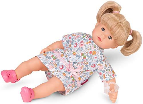 Götz 1727186 Maxy Muffin Summertime Puppe - Sommerzeit - 42 cm große Babypuppe mit blauen Schlafaugen, Blonde Haare und Weichkörper - 6-teiliges Set (Puppe Mit Haar)