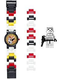 LEGO Star Wars 8020325 Stormtrooper Kids Buildable Watch with Link Bracelet and Minifigure|black/white|plastic|25mm case diameter|analogue quartz|boy girl|official
