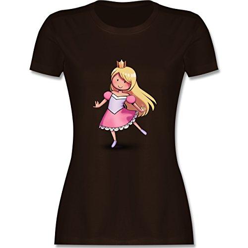 Karneval & Fasching - Tanzende Prinzessin - tailliertes Premium T-Shirt mit Rundhalsausschnitt für Damen Braun