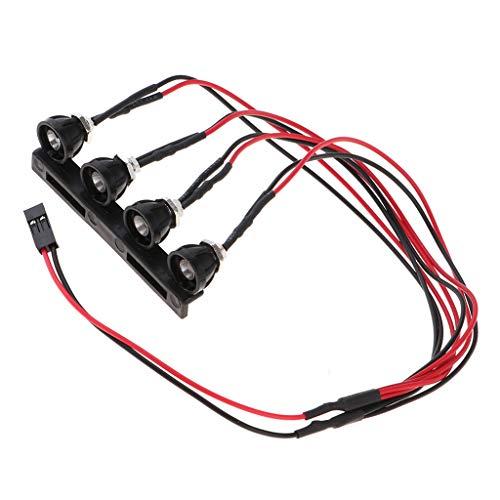 sharprepublic Rote Scheinwerfer 4 Led Licht Set Mit Basis Für Wpl C14 C24 Modell Rc Cars LKW Teile \u0026 ACCS DIY Kit Toys - Rc Cars Lkw
