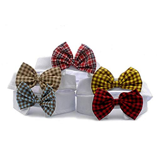 GLQ Pet Fliege Kostüm - Verstellbare Hunde Katzen Krawatte Plaid Fliege - Mode Classic Designs Fit für andere Kleintiere -Perfekt für Hochzeit Party ()