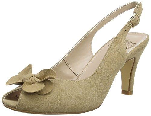 Lotus Eulalia, Chaussures à talons avec bride à l'arrière femme Beige (Beige)