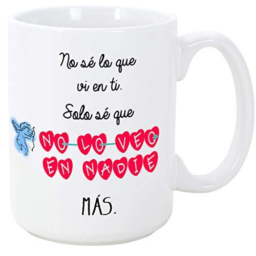 MUGFFINS Taza Regalar Enamorados/San Valentín - No