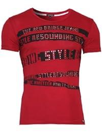 Redbridge T-Shirt Party Slim Fit mit Steinen