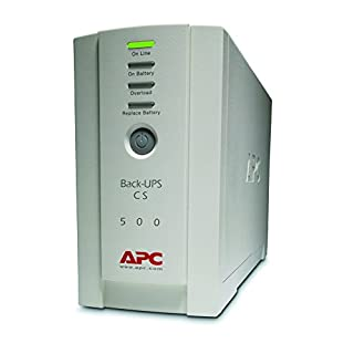 APC Back-UPS CS - BK500EI - Uninterruptible Power Supply 500VA (4 Outlets IEC, Surge protected)