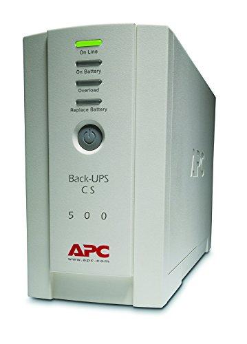 APC Back-UPS CS 500 - Unterbrechungsfreie Stromversorg 500VA - BK500EI - 4 Ausgänge IEC - Überspannungsschutz -