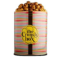 The Crunch Box Sticky English Toffee Popcorn Tin - 410 Gms