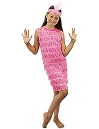 ILoveFancyDress Déguisement garçonne des années 20 pour filles, Robe à franges avec bandeau à plumes et paillettes assorti