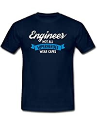 Spreadshirt Engineer Superhero Profession Quote Humour Men's T-Shirt