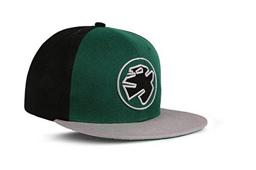 RebelByNature RC1 - Snapback Cap Logo Mütze Unisex Kappe Hat Sport Baseball 100% Acryl - Collection No1-6Panel ORIGINAL RebelTM - Matrix-Green