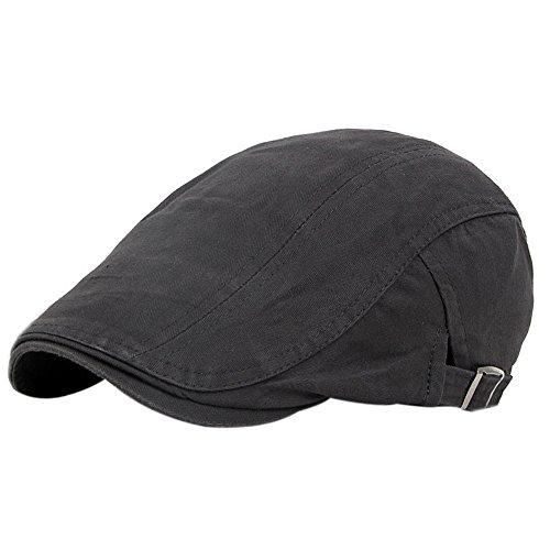 ze Barett Flat Cap Atmungsaktiv Kappen sportcap Newsboy Mütze für Herren und Damen,grau ()