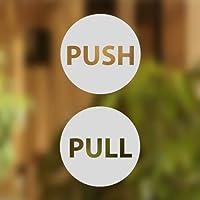 Wall4stickers Pull Push Door Stickers Shop Window Salon Bar Cafe Restaurant Office Vinyl Sign