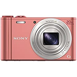 "Sony DSC-WX350 Appareil photo hybride 3"" (7,62 cm) 18,2 Mpix Zoom optique 20x Wi-Fi/HDMI/USB Rose"