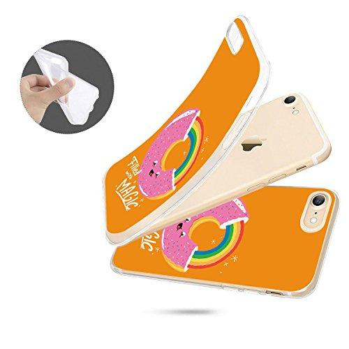 finoo   iPhone 8 Weiche flexible Silikon-Handy-Hülle   Transparente TPU Cover Schale mit Motiv   Tasche Case Etui mit Ultra Slim Rundum-schutz   Gameboy Donut Magic Gelb