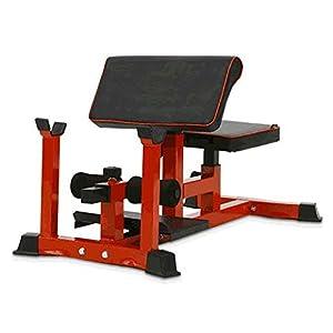 Pullup Fitness Sissy Squat Bench/Preacher Curl/Sit Up-Gestell, ABDOS, Oberschenkel, Gesäß, Rot