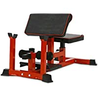 Pullup Fitness SISSY SQUAT Bench/Preacher Curl/Sit up Rack/ABDOS/Cuisse/Fessier/Rouge