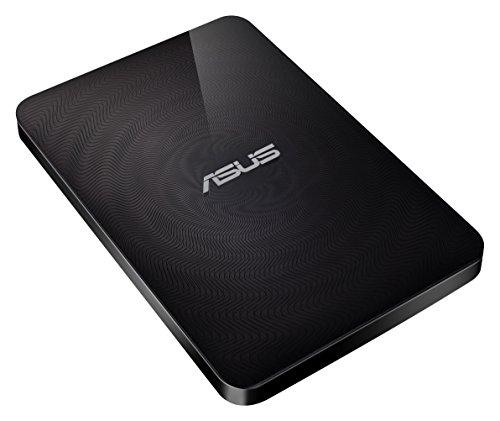 festplatte mit bluetooth Asus Travelair N WHD-A2 1 TB Externe Festplatte (WLAN, SD Karten Slot, One-Touch NFC Sensor, spritzwassergeschützt, USB 3.0) schwarz
