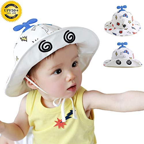 Bebés Niños Niñas Sombrero de Sol Verano Ajustable Sombrero de Sol para  Algodón 94f6e6995828