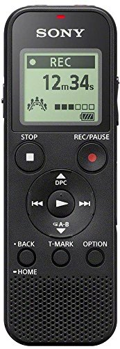 Sony ICD-PX370 Internal memory & flash card Black dictaphone - Dictaphones (159 h, MP3, 15 - 20000 Hz, 48 - 192 Kbit/s, USB, Alkaline)