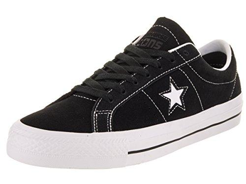 Converse Unisex-Erwachsene Skate One Star Pro Ox Sneakers Schwarz (Black White 001), 44.5 EU (One Converse Schuhe Skate Star)