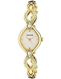 Sonata Sona Sitara Analog White Dial Women's Watch -NM8063YM03 / NL8063YM03