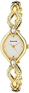 Sonata Sona Sitara Analog White Dial Women's Watch -NK8063YM03