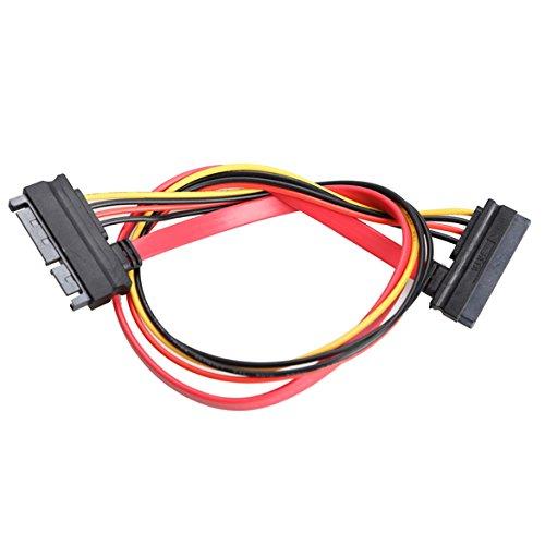Broadroot 22 Pin Stecker auf Buchse 7 + 15 Pin SATA Daten Power Combo Verlängerungskabel 45CM
