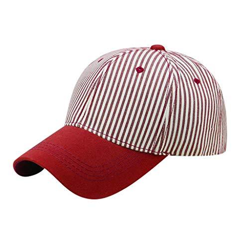 Saingace(TM) Baseball Cap Sporthüte Sommerhut  Gestreifte Herren- und Damen-Baseballmütze Sunscreen Visor Sun Hatmit UV Schutz Atmungsaktive Mütze Kappe