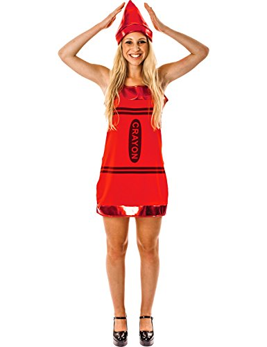 Crayon Dress - Red - Small (Red Crayola Kostüm)