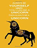 Always Be Yourself Unless You Can Be a Unicorn Then Be a Unicorn: Beautiful Unicorn Notebook with Quote for Adults | Unicorn Diary Travel Journal for Girls Gratitude Journal for Women Blank Journal