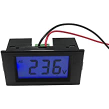 uniquegoods CA 80V 110V 220V 380V 500V LCD Digital del voltímetro Panel de metro de voltio