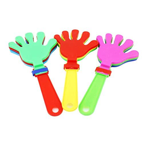 TOYANDONA Hand Klöppel Krachmacher 12 Stücke Hand Klöppel Krachmacher Gefälligkeiten 19 cm für Geschenk Parteibevorzugung Preise und Lieferungen (Zufällig) (Hand Clappers Noisemakers)