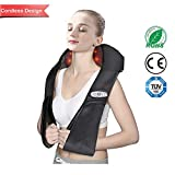 GoHiking Shiatsu Neck Back and Shoulder Massager with Heat and Timing Function