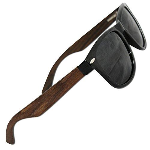 Sonnenbrille Polarisiert in Holz Optik - Hochwertige polarisierte Gläser mit UV Schutz - Jeder Kauf bei Eye Love löst eine wohltätige Spende aus