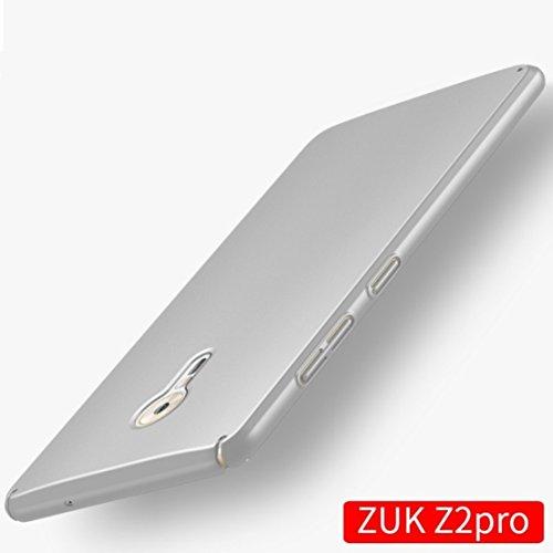 Apanphy ZUK Z2 Pro Hülle , Hohe Qualität Ultra Slim Harte Seidig Und Shell Volle Schutz Hinten Haut Fühlen Schutzhülle für ZUK Z2 Pro, Silber