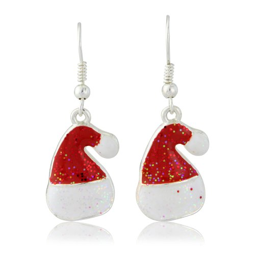 Ohrringe Modeschmuck Weihnachten, Weihnachtsmannmütze, Rot, in ()