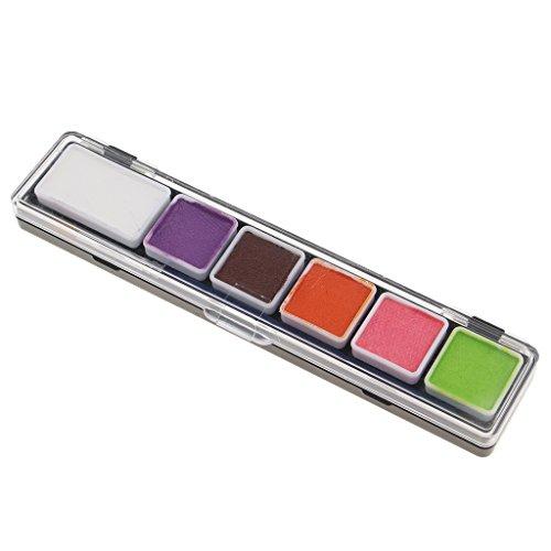 (Homyl Schminke Make-Up, Kinderschminke 6 verschiedene Farben Profi Palette, Ideal für Kinder, Parties, Bodypainting Halloween Make-up)