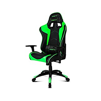 Drift DR300 – DR300BG – Silla Gaming, Color Negro/Verde