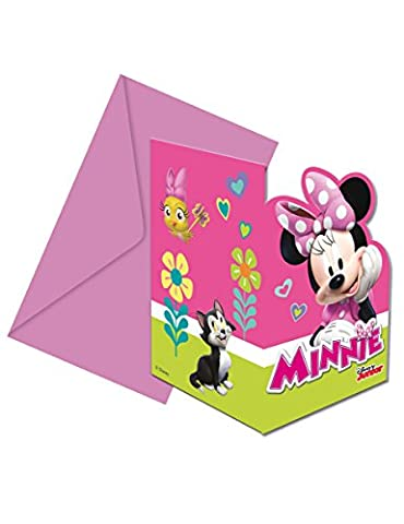 Minnie Mouse Happy Helpers Party Invitations & Envelopes by Procos (6 Pack)