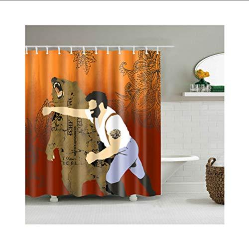hysxm Mode Katze Muster Duschvorhang Bunte Umweltfreundliche Polyester Hochwertige Waschbar Bad Dekor Duschvorhang 1 Stücke-180(H)*180(W) cm