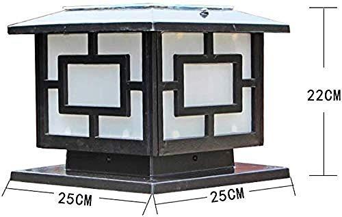 Wandleuchte Solar Pillar Light mit Remote-Fußgängerweg Garden Yard Dekorative Masten Außenbeleuchtung-Bronzeh: 32cm -