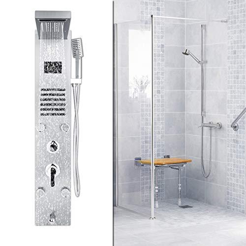 Zoternen Bad Duschpaneel Set Duschset mit LED Licht Temperaturanzeige 5 Wasserfunktionen Massage + Energieeinsparung