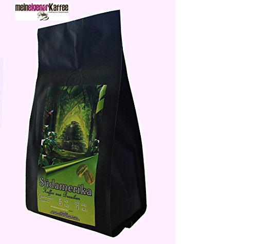Kaffee milde Mischung Brasilien extra helle Röstung, wenig Säure 3 x 500 g ganze Bohne
