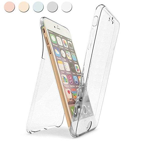 iPhone 6Plus Coque, iPhone 6s Plus Coque en TPU, Ukayfe 360intégrale ultra fine de protection souple clair Coque en TPU résistant aux rayures en caoutchouc de silicone Bumper Coque pour iPhone 6/6s  claire