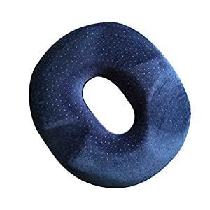 41PsGOV7qiL. SS300  - Sharplace Inflatable Blow Up Bum Back Car Home Pressure Relief Ring Cushion - Blue