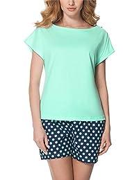 Merry Style Pijamas Ropa de Dormir Verano Pijama Pantalones y Camisetas Mujer MS10-178