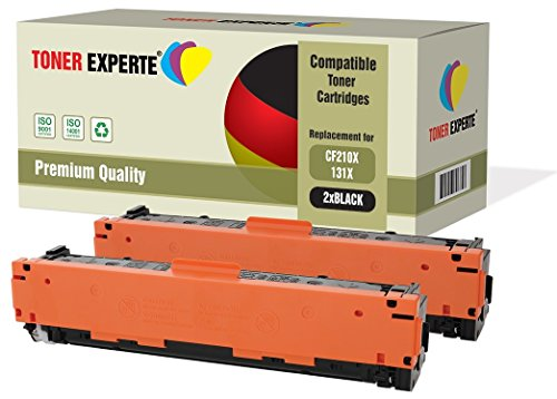 Kit 2 TONER EXPERTE® CF210X 131X Nero Toner compatibili per HP LaserJet Pro 200 Color M251N, M251NW, MFP M276N, MFP M276NW