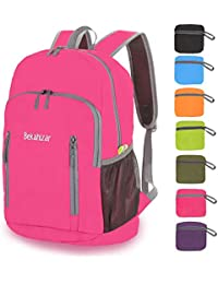 31a493e2bf7c Bekahizar 20L Ultra Lightweight Backpack Foldable Hiking Daypack Rucksack  Water Resistant Travel Day Bag for Men Women Kids Outdoor…